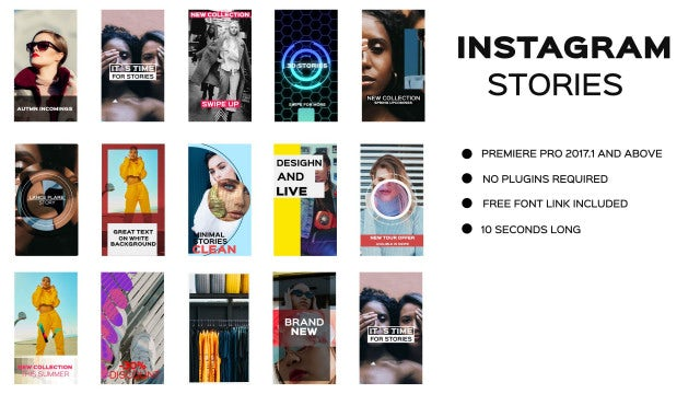 Instagram Stories: Premiere Pro Templates