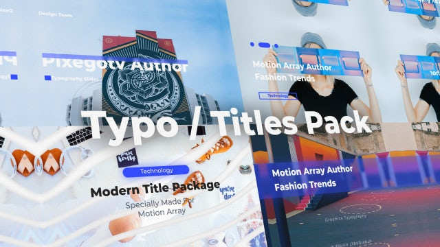 Typo / Titles Pack: Premiere Pro Templates
