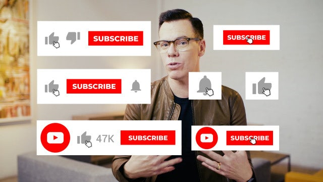 Subscribe, Like And Bell: Stock Motion Graphics