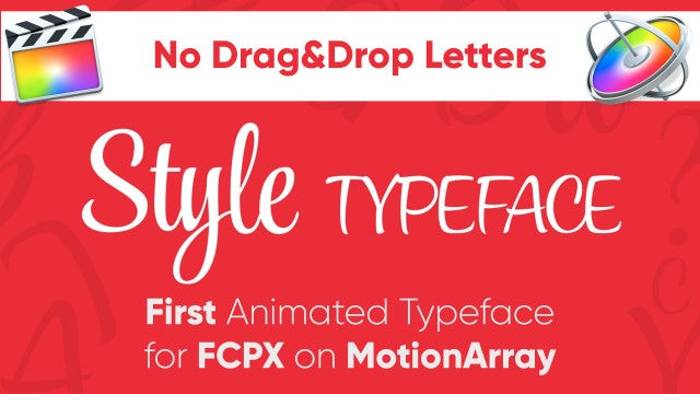 Style - Animated Typeface For FCPX: Final Cut Pro Templates