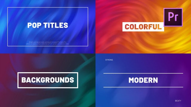 Pop Titles: Premiere Pro Templates