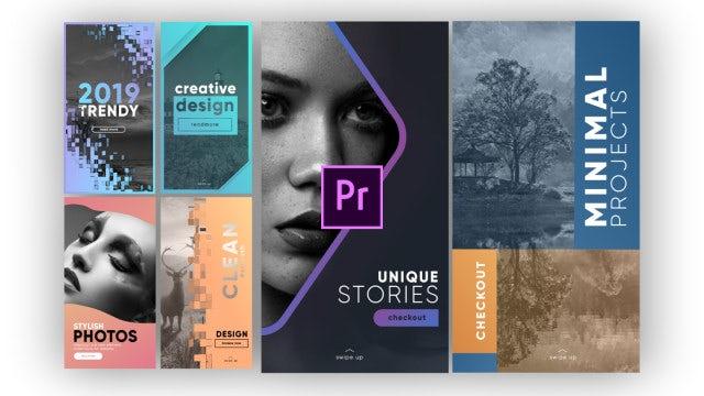 Unique Instagram Stories V5: Motion Graphics Templates