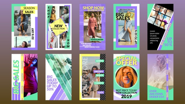 Shop Instagram Stories: After Effects Templates