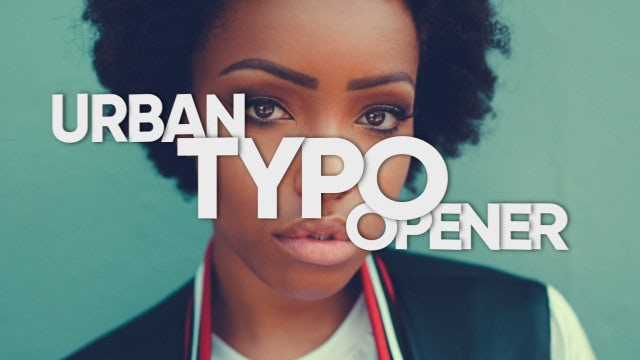 Urban Typo Opener: After Effects Templates