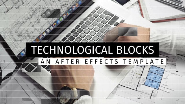 Technological Blocks: After Effects Templates