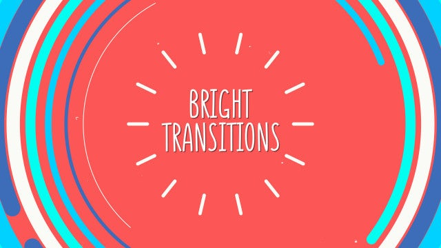 Bright Multicolored Transitions: After Effects Templates