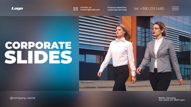 Clean Corporate Titles Opener: After Effects Templates