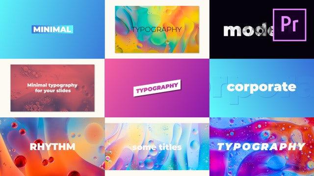 Typography: Motion Graphics Templates