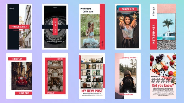 Universal Instagram Stories: Premiere Pro Templates