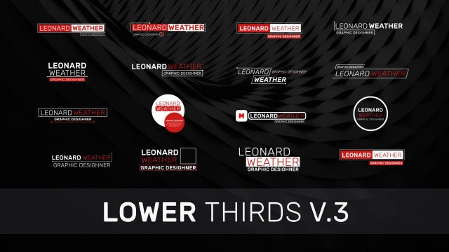 Lower Thirds V3: Motion Graphics Templates