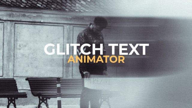 Glitch Text Animator: Premiere Pro Presets