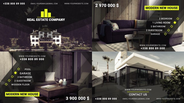 Estate Promo 4k: Premiere Pro Templates
