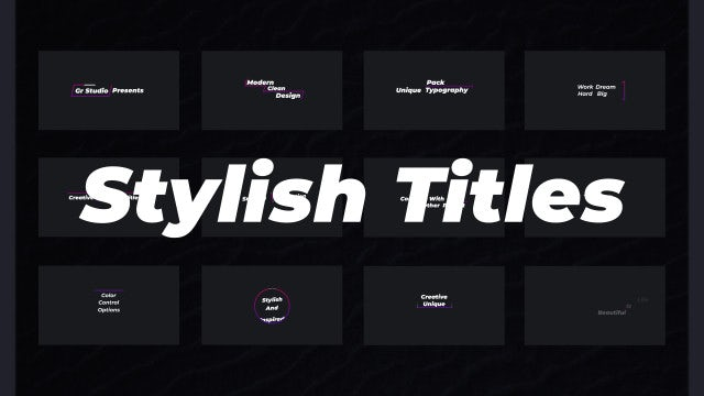 Stylish Titles: Motion Graphics Templates