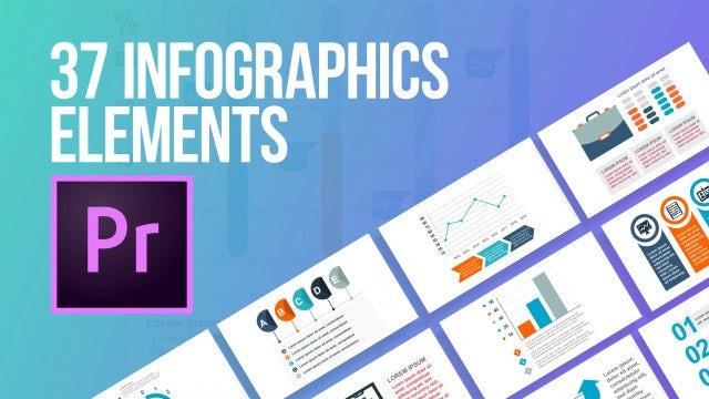 37 Infographics Elements: Motion Graphics Templates
