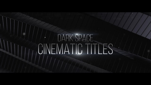 dark space cinematic titles after effects templates. Black Bedroom Furniture Sets. Home Design Ideas