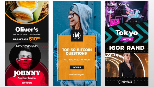 Stories & Posts III: After Effects Templates