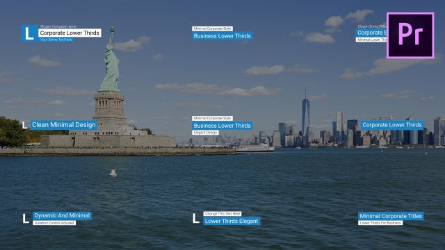 Corporate Lower Thirds: Motion Graphics Templates