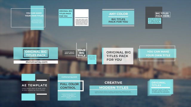 Big Titles Pack: After Effects Templates