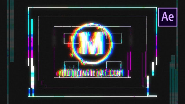 Rich Logo Glitch: After Effects Templates