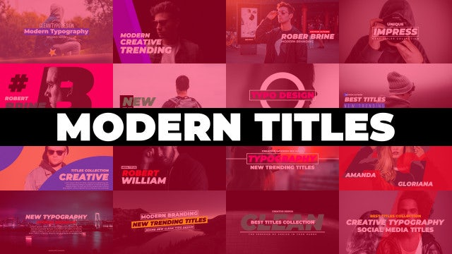 Titles: Motion Graphics Templates