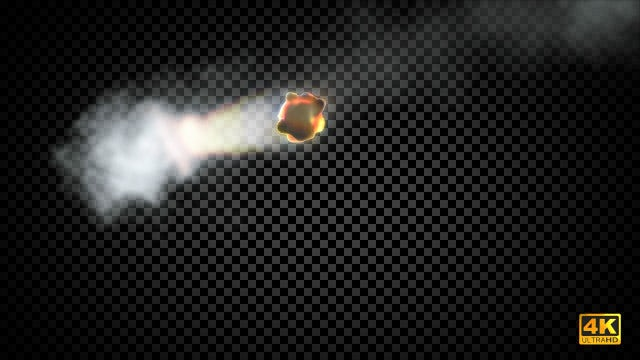 Meteor Falling: Stock Motion Graphics