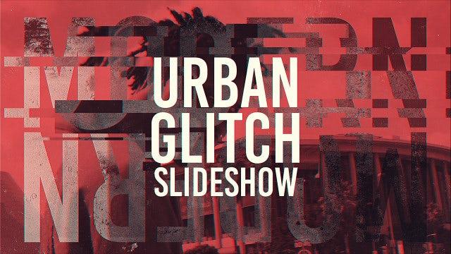 Urban Glitch Slideshow: After Effects Templates