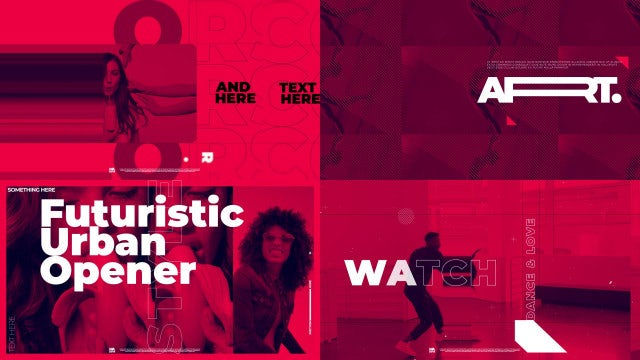 Futuristic Urban Opener: After Effects Templates