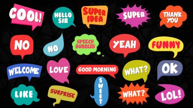Modern Speech Bubbles: After Effects Templates