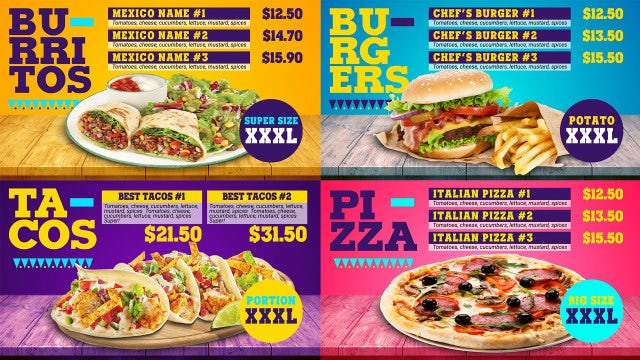 Food Menu Promo - After Effects Templates   Motion Array