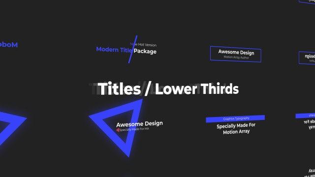 Mini Titles / Lower Thirds: Premiere Pro Templates