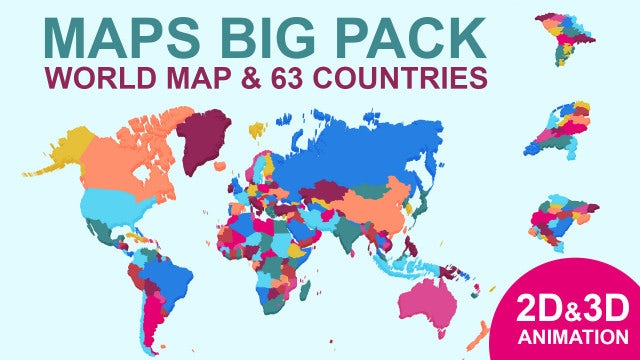 Europe Map Kit: 40+ Maps - After Effects Templates | Motion