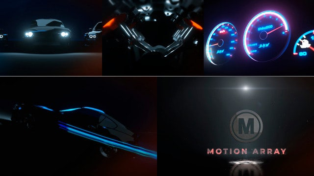 Car Logo//Racing Reveal: After Effects Templates