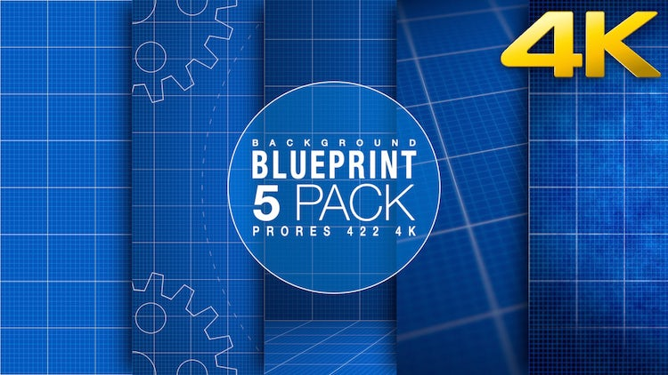Blueprint Background Collection: Stock Motion Graphics