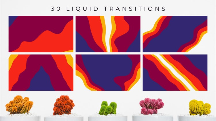 30 Liquid Transitions: Stock Motion Graphics