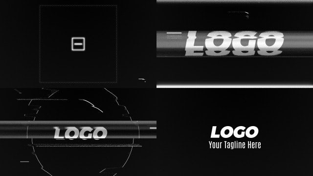 Glitch Intro Noise TV: After Effects Templates