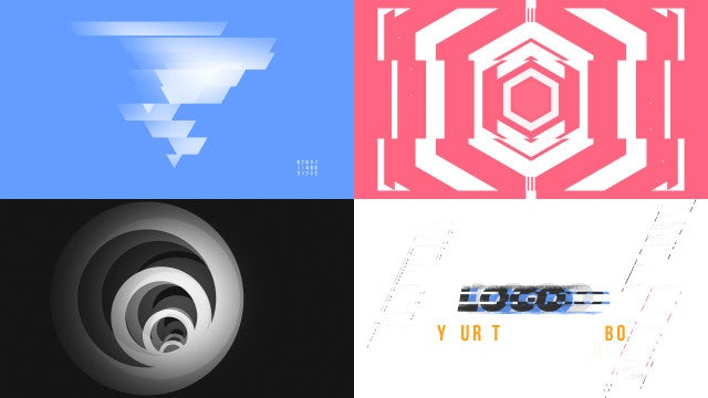 Abstract Intro Geometry: After Effects Templates