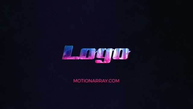 Neon Glossy Logo: After Effects Templates