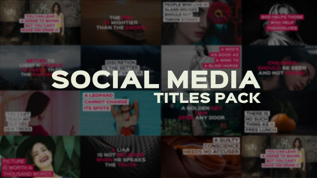 Social Media Titles Pack: Motion Graphics Templates