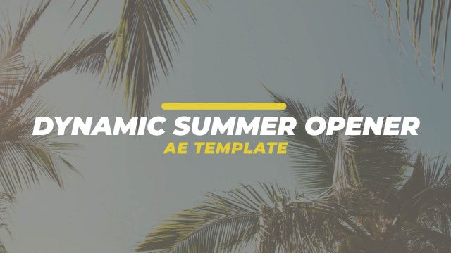 Dynamic Summer Opener: After Effects Templates