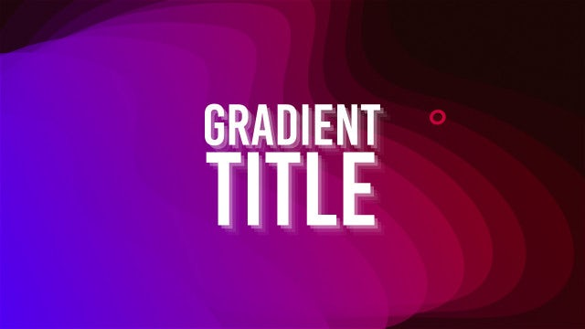 Gradient Title: After Effects Templates