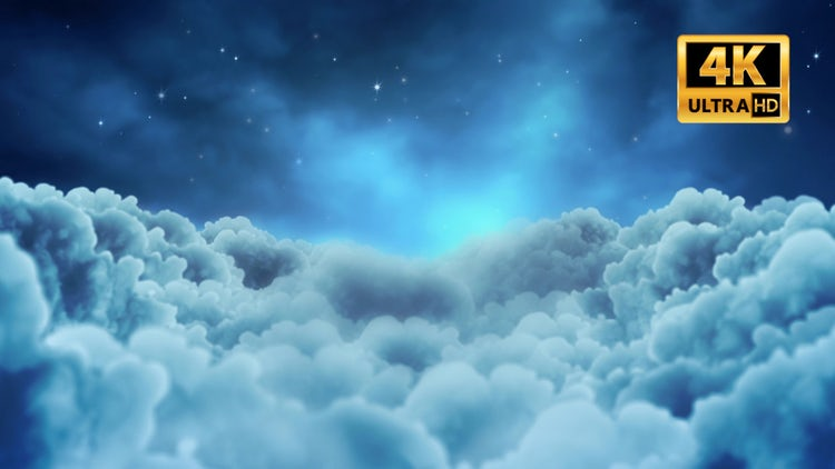 Fly Over Night Clouds: Stock Motion Graphics