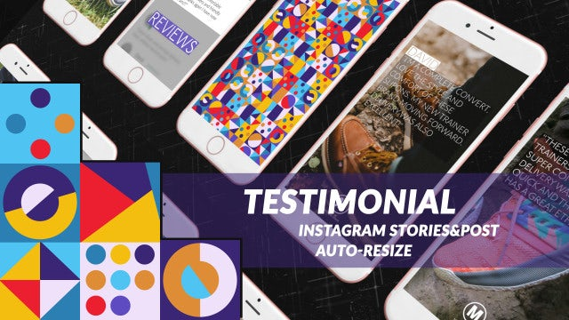 Testimonial Stories And Post: After Effects Templates