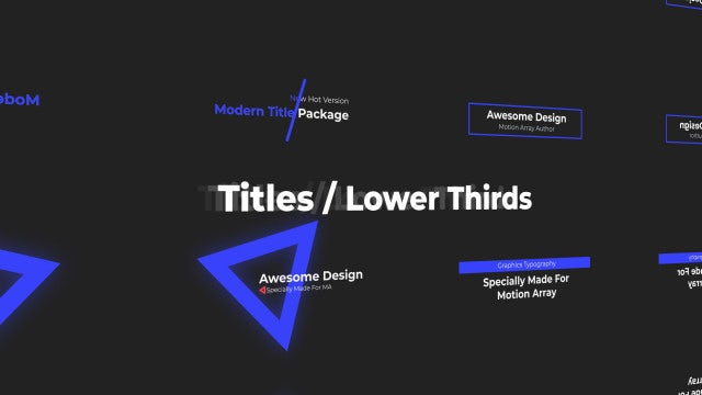 Mini Titles / Lower Thirds: After Effects Templates