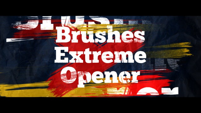 Brushes Extreme Opener: After Effects Templates