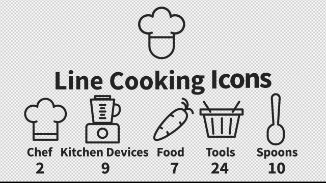 Cooking Icons: Stock Motion Graphics