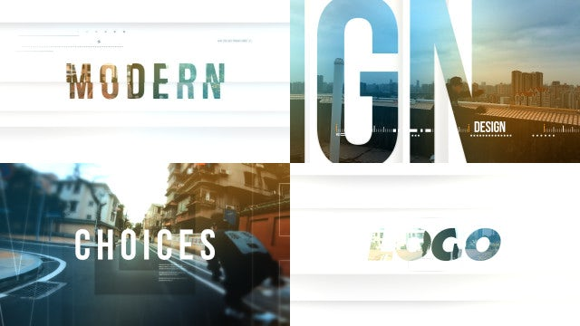 Modern Style Opening: After Effects Templates