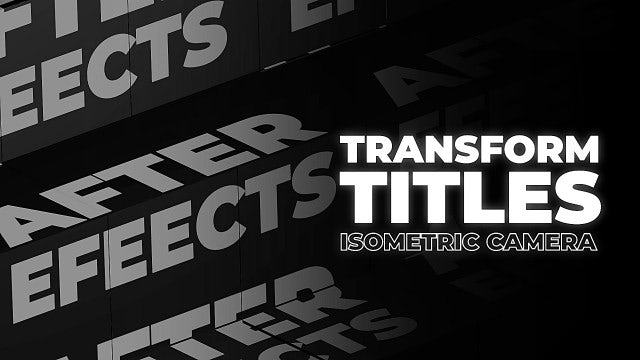 Transform Titles: After Effects Templates
