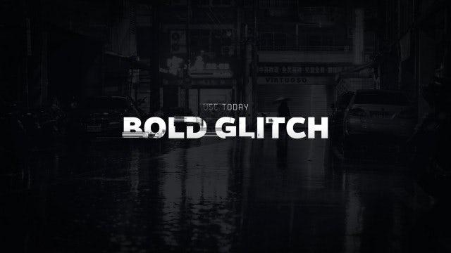 Titles Animator - Bold Glitch: Premiere Pro Templates