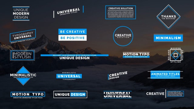 20 Creative Typo IV: After Effects Templates