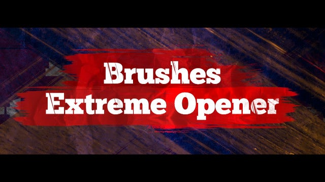 Brushes Extreme Opener: Premiere Pro Templates